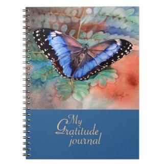 Blue Morpho Watercolor Gratitude Journal