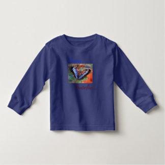 Blue Morpho Watercolor Tee Shirt