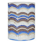 Blue Mosaic 3'' x 4'' LED Candle