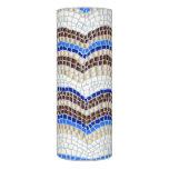 Blue Mosaic 3'' x 8'' LED Candle