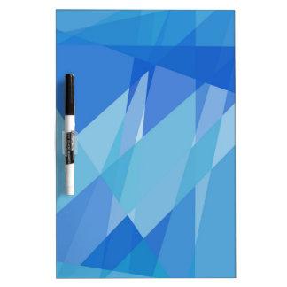 Blue Mosaic Abstract Art Modern Geometric Pattern Dry Erase Board