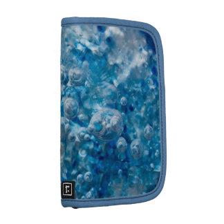 Blue Mosaic Abstract Folio Case Organizers