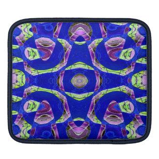 Blue mosaic abstract iPad sleeves