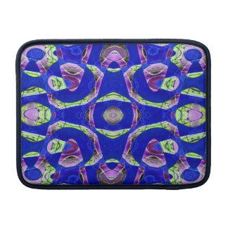 Blue mosaic abstract MacBook air sleeve