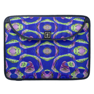 Blue mosaic abstract sleeves for MacBooks