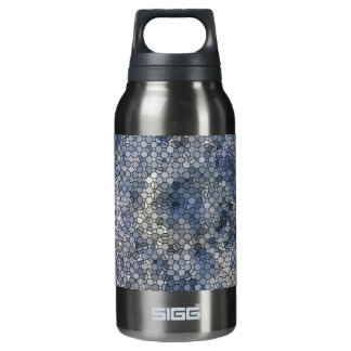 Blue Mosaic Aluminum Water Bottle, BPA Free Insulated Water Bottle