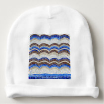 Blue Mosaic Baby Cotton Beanie