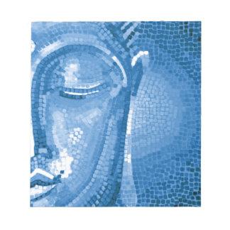 Blue Mosaic Buddha Face Scratch Pads
