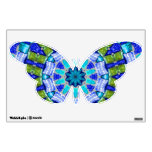 Blue Mosaic Butterfly Wall Decal