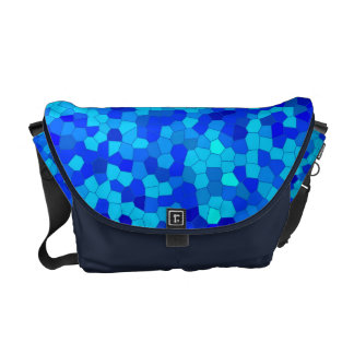 blue mosaic - curing ashes medium messenger bag