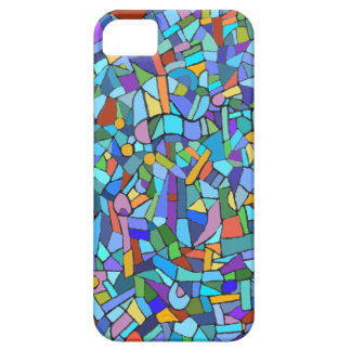 Blue Mosaic Decorative Pattern iPhone 5 Cover