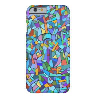 Blue Mosaic Decorative Pattern Barely There iPhone 6 Case