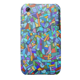 Blue Mosaic Decorative Pattern Case-Mate iPhone 3 Cases