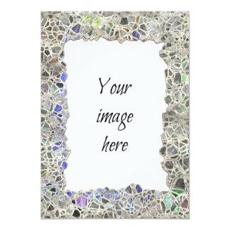 Blue Mosaic Frame Card