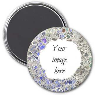 Blue Mosaic Frame Magnet