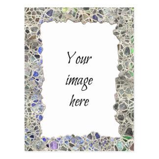 Blue Mosaic Frame Postcard
