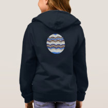 Blue Mosaic Girls' Basic Zip Hoodie