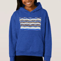 Blue Mosaic Girls' Pullover Hoodie