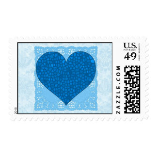 Blue Mosaic Heart Stamp
