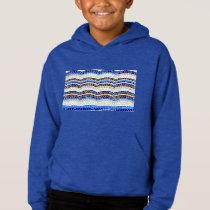 Blue Mosaic Kids' Pullover Hoodie