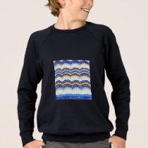 Blue Mosaic Kids' Raglan Sweatshirt