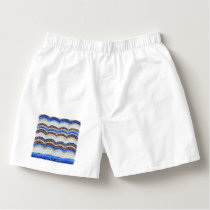 Blue Mosaic Men's Boxers