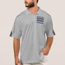 Blue Mosaic Men's Golf Polo Shirt