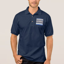 Blue Mosaic Men's Jersey Polo Shirt