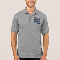 Blue Mosaic Men's Jersey Polo Shirt