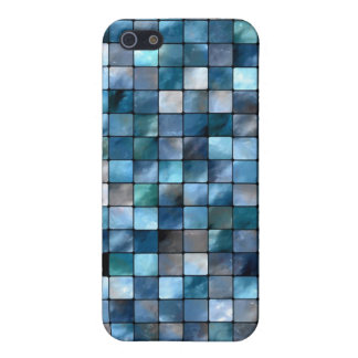 Blue Mosaic Of Tiles Cover For iPhone SE/5/5s