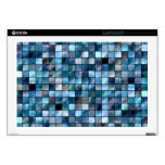 Blue Mosaic Of Tiles Laptop Skins