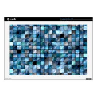 Blue Mosaic Of Tiles Laptop Skins