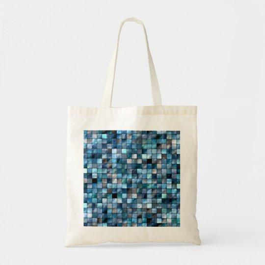 Blue Mosaic Of Tiles Tote Bag