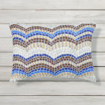 Blue Mosaic Outdoor Accent Pillow