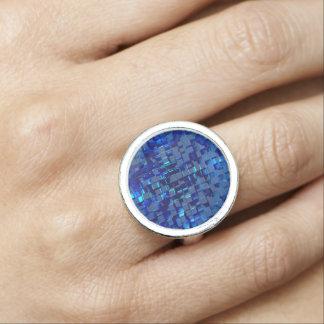 blue mosaic ring