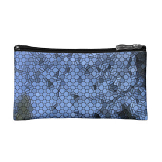 Blue Mosaic Small Cosmetic Bag