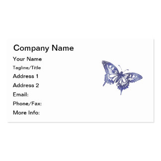 Blue Mosaic Stained Glass Butterfly Business Card
