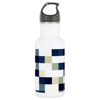 Blue Mosaic Stainless Steel Water Bottle