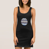 Blue Mosaic Tank Dress