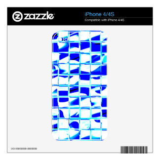 blue mosaic tile decal for iPhone 4
