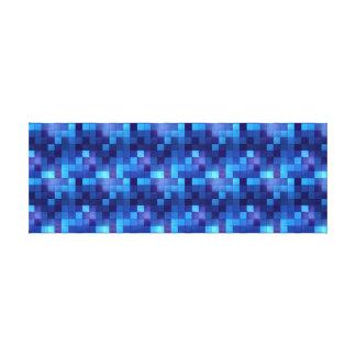 blue mosaic tiles (queen-sized) canvas print