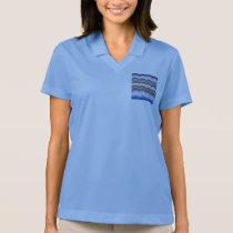 Blue Mosaic Women's Pique Polo T-Shirt