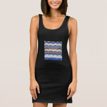 Blue Mosaic Women's Tank Dress