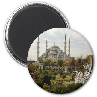 Blue Mosque 2 Inch Round Magnet