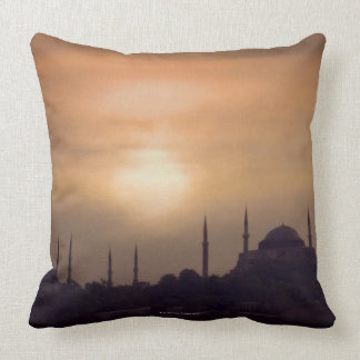 Blue Mosque and Hagia Sophia Turkey Istanbul Pillows