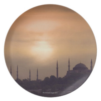 Blue Mosque and Hagia Sophia Turkey, Istanbul Plate