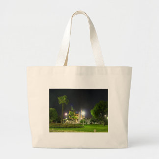 Blue Mosque At Night Canvas Bag
