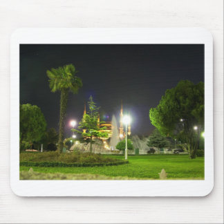 Blue Mosque At  Night. Mouse Pad