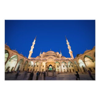 Blue Mosque at Night Photo