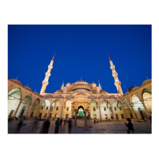 Blue Mosque at Night Postcard